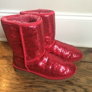 Red sequin Uggs